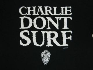 Vtg Charlie DonT Surf Charles Manson T Shirt AXL Rose