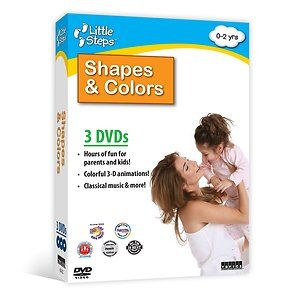 Steps Shapes Colors 3 DVD Collection of Child Baby Learning DVD