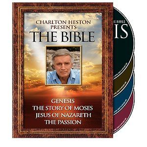 Charlton Heston Presents the Bible Complete Series DVD 2011 4 Disc Set