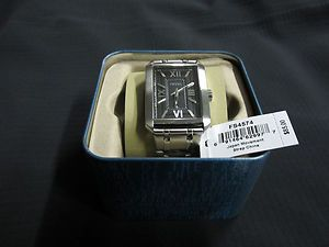 MACYS NEW IN BOX Silver Stainless Steel FOSSIL FS4574 MENS WATCH
