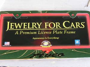 Chevy Aveo License Plate Frame Chrome Engraved Chevrolet