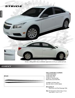 Chevy Cruze All Models Graphics Kit Decals EE1634 Emblems Stripes Trim
