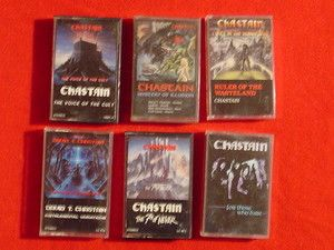 Chastain Lot of 6 Heavy Metal Hard Rock Music Cassette Tapes