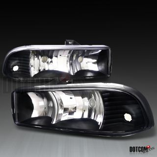 1998 2004 CHEVY S10/ BLAZER EURO BLACK HEADLIGHTS HEAD LAMPS