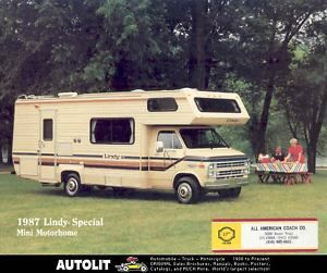 1987 Skyline Lindy Chevrolet Mini motorhome RV Brochure