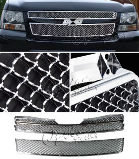 07 08 09 10 Chevy Tahoe Suburban All Chrome Bentley Style Front Mesh