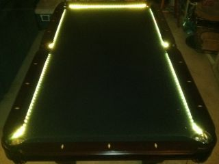BAR BILLIARD POOL TABLE BUMPER LED RGB COLOR CHANGING LIGHTS REMOTE
