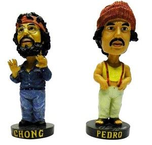 Cheech Chong Autographed Bobble Head Dolls Marin Tommy