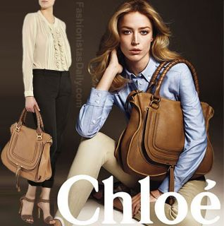 Authentic Chloe Marcie Large Leather Shoulder Bag Retail $1895