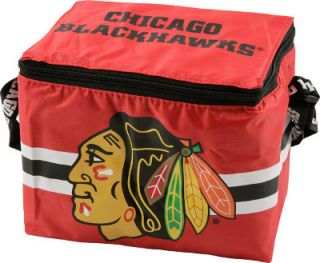 Chicago Blackhawks NHL Hockey Square Insulated Lunch Bag Box