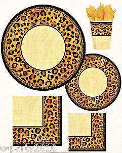 Leopard Animal Print Safari Birthday Party Supplies Pick Only What U