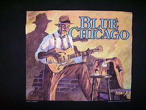 Chicago Blues Bar T Shirt Clark Street Rambler John Carroll Doyle