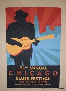 Mens T Shirt Chicago Blues Festival 2008 Medium