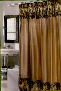 Animal Print Shower Curtain Tiger Leopard Zebra