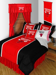 NBA Chicago Bulls Sidelines 9 Piece Complete Bedding Package Set