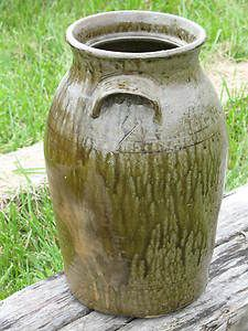 Southern Folk Art Pottery Cheever Meaders Double Handle Four Gallon