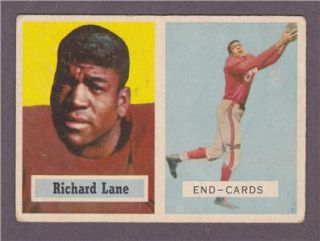 Football # 85   Richard Night Train Lane   Chicago Cardinals   RC