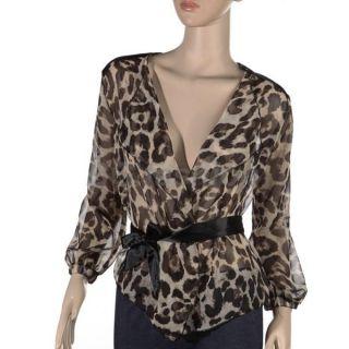 Print Shirt Half Sleeve Tops Chiffon Blouse Tee Ponchos s M L