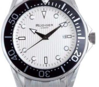 New Rudiger Mens Chemnitz Stainless Steel Wrist Watch R2000 04 001 No