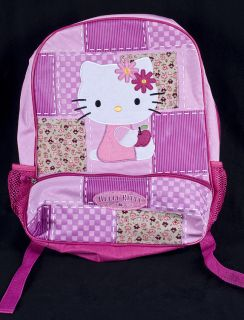 Sanrio HELLO KITTY Pink Patchwork Patch Child Girls School BACKPACK