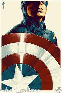 Avengers Captain America Mondo Poster Chris Evans Marvel