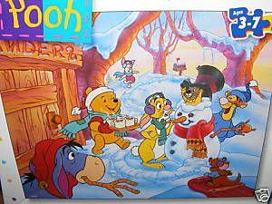 Disney 24pc Kids Puzzle Pooh Friends Winter Scene New