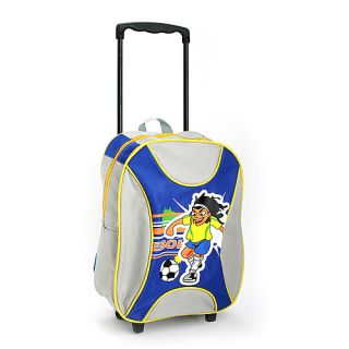 New Childs Rolling Suitcase Backpack Carry on Bag Boys
