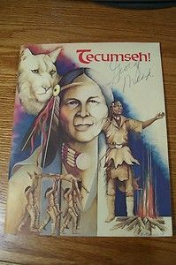 Signed Autographed Theatre Program Chillicothe Oh Native Indian