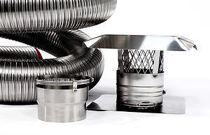 x25 Stainless Steel Chimney Liner Insert Kit Made in USA