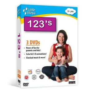 Little 123s Counting 3 DVD Set Collection of Child Baby Learning DVD