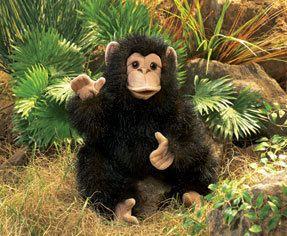 Baby Chimpanzee Folkmanis Plush Hand Puppet 2877 Christmas Stocking