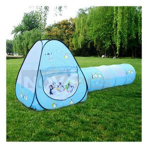 Blue Children Kid Pop Up Outdoor Backyar Play Tent Tunnel Play House