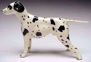 Robert Simmons Ceramics California Pottery Chet Black White Dalmatian