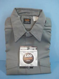 Vtg Lee Chetopa Twill Greaser Hot Rod Work Shirt Medium