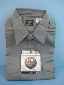 Vtg Lee Chetopa Twill Greaser Hot Rod Work Shirt Medium