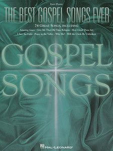 The Best Gospel Songs Ever Easy Piano Sheet Music Vocal Melody Lyrics
