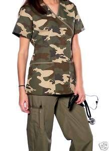 Camouflage Scrub Set Uniform for Women Brand New