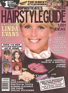 HAIRSTYLE GUIDE Magazine   LINDA EVANS, Christie Brinkley