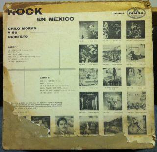 Chilo Moran Rock En Mexico LP VG DML 8114 Vinyl Mexico RARE Record