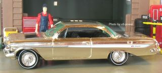 1961 CHEVY IMPALA SS 409 BUBBLETOP COUPE, Chrome New Release Ed, 1:64