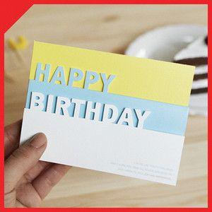 1ea Happy Birthday Blank Pop Up Greeting Card Envelope Sticket