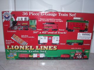 Lionel Lines 36 PC G Gauge Christmas Train Set Battery Operate w Light