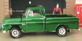 1965 CHEVY FLEETSIDE PICKUP, Green Chrome Finish, Opening Hood, RR, 1