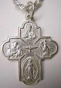 Jesus Saint Christopher Joseph Virgin Mary Charm Cross