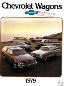 1979 Chevrolet Chevy Caprice Malibu Wagon Brochure Book