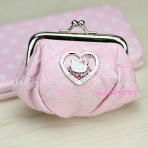 Fashion hellokitty Girl Candy coin kid hand lady Pu Leather Mini bag