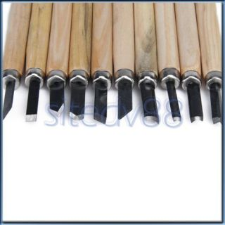 10pcs Woodworking Wood Carving Hand Chisels Tool Set