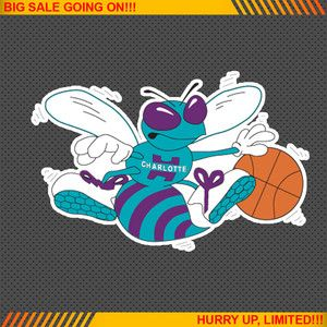 Charlotte Hornets NBA Basketball Logos Car Bumper Window Wall Sticker