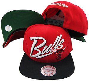 Chicago Bulls Snapback Hat Mitchell Ness NE40Z
