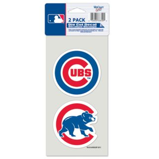 Chicago Cubs Team Logo Die Cut Car Sticker MLB Decals 2 Pack 4 x 8